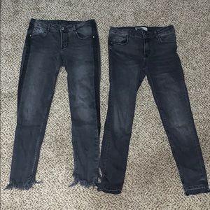 Zara black jeans bundle size 6